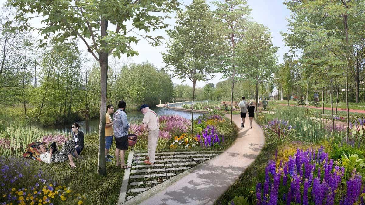 Visualisaties-Gouda-park-spoorzone-Westelijke-richting-Na